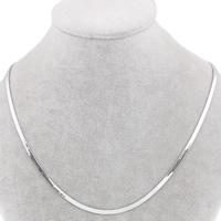 Halskette, Edelstahl, Fischgräten-Kette, originale Farbe, frei von Blei & Kadmium, 3x0.5mm, verkauft per ca. 17 ZollInch Strang