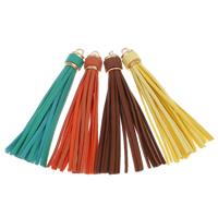 Baumwollsamt Troddel, mit Eisen, goldfarben plattiert, keine, 15x110mm, Bohrung:ca. 5mm, verkauft von PC