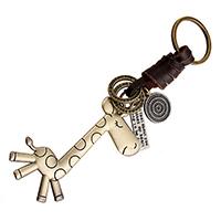 Zinklegierung Schlüsselanhänger, mit Kuhhaut, Giraffe, plattiert, 150mm, 20PCs/Menge, verkauft von Menge