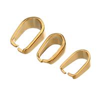 Edelstahl Änhangeröse, goldfarben plattiert, verschiedene Größen vorhanden, 400PCs/Tasche, verkauft von Tasche