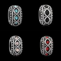 Edelstahl European Perlen, 316 L Edelstahl, Rondell, ohne troll & mit Strass & Schwärzen, keine, 6x10mm, Bohrung:ca. 4mm, 10PCs/Tasche, verkauft von Tasche