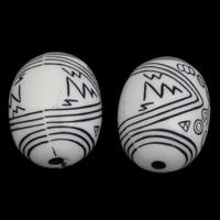 Antike Acrylperlen, Acryl, oval, antik imitieren, weiß, 20x25mm, Bohrung:ca. 3mm, ca. 75PCs/Tasche, verkauft von Tasche
