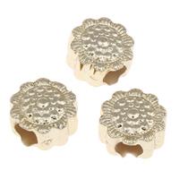 European Acrylperlen, Acryl, Blume, goldfarben plattiert, 12x8mm, Bohrung:ca. 4mm, ca. 700PCs/Tasche, verkauft von Tasche