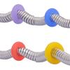 Silikon-Perlen, Silikon, Kreisring, keine, 7mm, Bohrung:ca. 3.2mm, 10PCs/Tasche, verkauft von Tasche