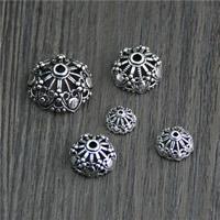 Bali Sterling Silber Perlenkappen, Thailand, Blume, verschiedene Größen vorhanden & hohl, verkauft von Menge