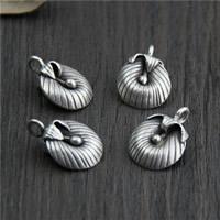 Bali Sterling Silber Anhänger, Thailand, Blume, 13.80x20mm, Bohrung:ca. 2mm, 5PCs/Menge, verkauft von Menge