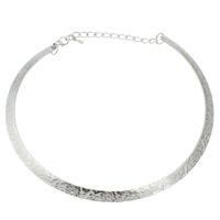 Eisen Halsketten, mit Verlängerungskettchen von 5cm, antik silberfarben plattiert, frei von Blei & Kadmium, 140x120x1.50mm, verkauft per ca. 15.5 ZollInch Strang