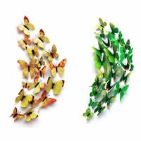 Kühlschrankmagnete, PVC Kunststoff, mit Magnetische Hämatit, Schmetterling, keine, 60-120mm, 12PCs/Tasche, verkauft von Tasche