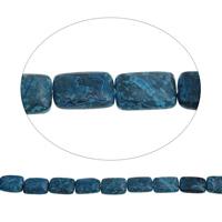 Natürliche blaue Achat Perlen, Blauer Achat, Rechteck, 13x18x6mm, Bohrung:ca. 1.5mm, ca. 24PCs/Strang, verkauft per ca. 16.9 ZollInch Strang