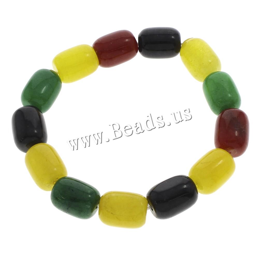 Buy Dyed Jade Bracelet Column multi-colored 12x16mm Length:Approx 7.5 Inch 10Strands/Bag Sold Bag