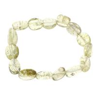 Gelbquarz Perlen Armband, November Birthstone & Knistern, 12x12x6mm-14x16x6mm, Länge:ca. 7.5 ZollInch, 10SträngeStrang/Tasche, verkauft von Tasche