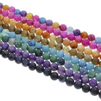 Geknister Achat Perle, rund, verschiedene Größen vorhanden, keine, Bohrung:ca. 1.5mm, Länge:ca. 14.5 ZollInch, verkauft von Tasche