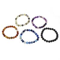 Streifen Achat Armband, rund, verschiedene Größen vorhanden & satiniert, keine, verkauft per ca. 7 ZollInch Strang
