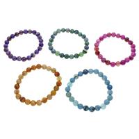 Geknister Achat Armband, rund, verschiedene Größen vorhanden, keine, verkauft per ca. 7 ZollInch Strang