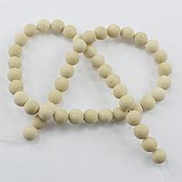 Flussstein Perle, rund, natürlich, verschiedene Größen vorhanden & satiniert, Bohrung:ca. 1-2mm, Länge:ca. 15.5 ZollInch, verkauft von Menge