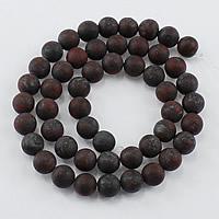 Jaspis Brekzien Perlen, Jaspis Brecciated, rund, natürlich, verschiedene Größen vorhanden & satiniert, Bohrung:ca. 1-2mm, Länge:ca. 15 ZollInch, verkauft von Menge
