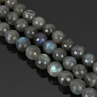 Labradorit Perlen, rund, natürlich, verschiedenen Qualitäten für die Wahl & verschiedene Größen vorhanden & facettierte, Bohrung:ca. 1-2mm, verkauft per ca. 15.5 ZollInch Strang