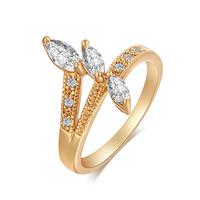 Gets® Finger Ring, Messing, vergoldet, verschiedene Größen vorhanden & mit kubischem Zirkonia & facettierte, frei von Nickel, Blei & Kadmium, 16mm, verkauft von PC