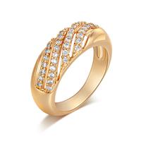 Gets® Finger Ring, Messing, vergoldet, verschiedene Größen vorhanden & mit kubischem Zirkonia, frei von Nickel, Blei & Kadmium, 7mm, verkauft von PC