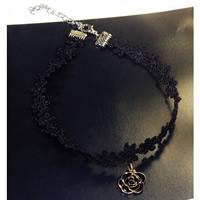 Mode-Halskette, Spitze, mit Zinklegierung, mit Verlängerungskettchen von 2lnch, Blume, plattiert, Emaille, verkauft per ca. 12.5 ZollInch Strang