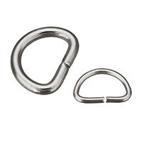 Tasche D -Ring Verschluss, Edelstahl, verschiedene Größen vorhanden, originale Farbe, 300PCs/Menge, verkauft von Menge