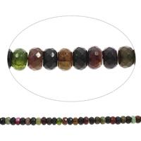 Geknister Achat Perle, Rondell, facettierte, gemischte Farben, 12x6mm-12x8mm, Bohrung:ca. 1mm, ca. 50PCs/Strang, verkauft per ca. 15 ZollInch Strang