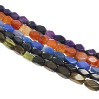 Geknister Achat Perle, oval, keine, 9x16mm-10x18mm, Bohrung:ca. 2mm, ca. 22PCs/Strang, verkauft per ca. 14 ZollInch Strang