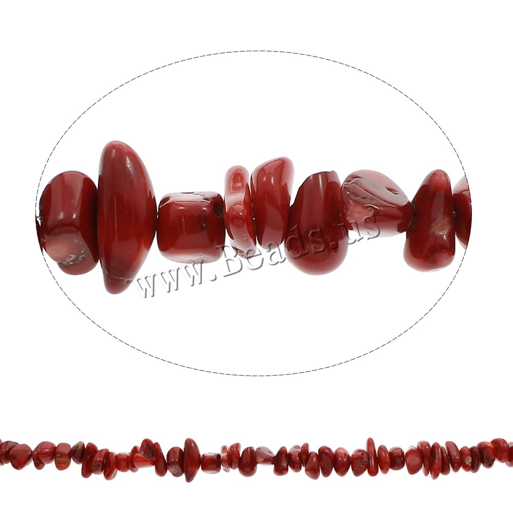 Buy Natural Coral Beads Chips red 10x7mm-15x8x4mm Hole:Approx 1mm Approx 175PCs/Strand Sold Per Approx 33.5 Inch Strand