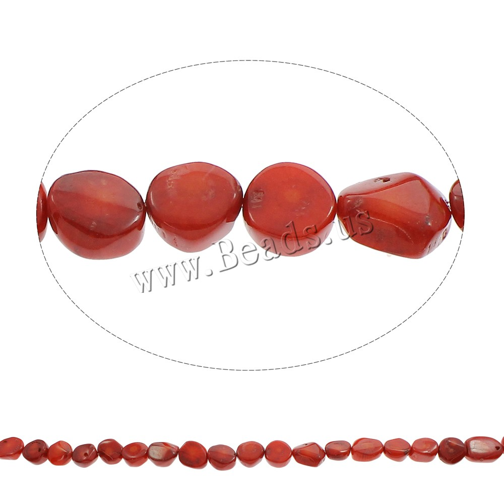 Buy Natural Coral Beads red 12x12x6mm-12x17x6mm Hole:Approx 1mm Approx 33PCs/Strand Sold Per Approx 15.5 Inch Strand
