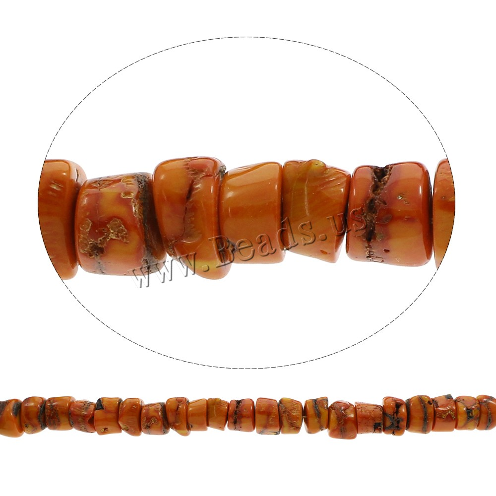 Buy Natural Coral Beads light orange 12x15mm-14x17mm Hole:Approx 1mm Approx 38PCs/Strand Sold Per Approx 15.5 Inch Strand