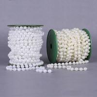 Garland-Strang Perlen, ABS-Kunststoff-Perlen, mit Kunststoffspule, rund, keine, 8mm, 10m/PC, 10m/PC, verkauft von PC