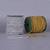 Garland-Strang Perlen, Acryl, mit Kunststoffspule, rund, plattiert, keine, 6mm, 25m/PC, 25m/PC, verkauft von PC