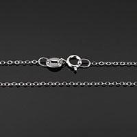 925 Sterling Silber Halskette Kette, unterschiedliche Länge der Wahl & Oval-Kette, 1.80x1.30x0.20mm, 10SträngeStrang/Menge, verkauft von Menge