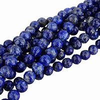 Lapislazuli Perlen, natürlicher Lapislazuli, rund, verschiedene Größen vorhanden & facettierte, verkauft per ca. 15.5 ZollInch Strang