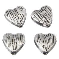 Zinklegierung Herz Perlen, antik silberfarben plattiert, frei von Blei & Kadmium, 8x4mm, Bohrung:ca. 1mm, 100G/Tasche, verkauft von Tasche