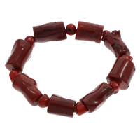 Natürliche Koralle Armband, rot, 17x16mm-22x15x12mm, verkauft per ca. 7 ZollInch Strang