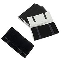 Baumwollsamt Schmuck-Reisen-Roll, mit Eisen, Platinfarbe platiniert, verschiedene Größen vorhanden, verkauft von PC