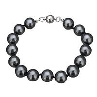 Glas Perlen-Armband, Glasperlen, Zinklegierung Magnetverschluss, Platinfarbe platiniert, 9.5x10mm, 12x8mm, Länge:ca. 7.5 ZollInch, 10SträngeStrang/Menge, verkauft von Menge