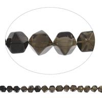 Natürliche Rauchquarz Perlen, Grad AAA, 12x15mm-17x17mm, Bohrung:ca. 2mm, ca. 40PCs/Strang, verkauft per ca. 15 ZollInch Strang