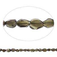 Natürliche Rauchquarz Perlen, facettierte, Grad AAA, 12x15x10mm-17x18x13mm, Bohrung:ca. 2mm, ca. 22PCs/Strang, verkauft per ca. 15 ZollInch Strang
