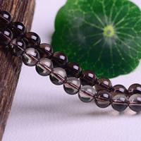 Natürliche Rauchquarz Perlen, rund, verschiedene Größen vorhanden, Bohrung:ca. 1-3mm, verkauft per ca. 15 ZollInch Strang