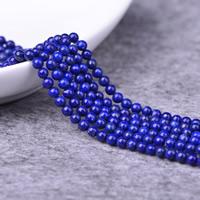 Lapislazuli Perlen, natürlicher Lapislazuli, rund, natürlich, verschiedene Größen vorhanden, Grade AAAAA, Bohrung:ca. 0.5-1mm, verkauft per ca. 15 ZollInch Strang