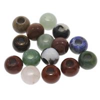 MischEuropa-Korne, Edelstein, gemischt & großes Loch, 12x10mm, Bohrung:ca. 5mm, 30PCs/Tasche, verkauft von Tasche