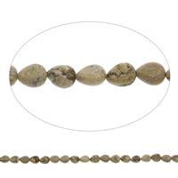 Bild Jaspis Perle, Tropfen, 8x10x5mm, Bohrung:ca. 1mm, ca. 40PCs/Strang, verkauft per ca. 15 ZollInch Strang
