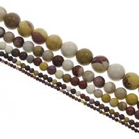 Dotter Stein Perle, rund, verschiedene Größen vorhanden, Bohrung:ca. 1mm, verkauft per ca. 15 ZollInch Strang
