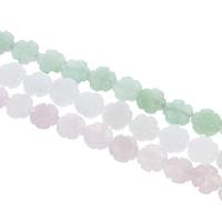 Edelstein Schmuckperlen, Blume, verschiedenen Materialien für die Wahl, 12x5mm, Bohrung:ca. 1mm, ca. 33PCs/Strang, verkauft per ca. 15 ZollInch Strang