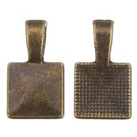 Zinklegierung Kleben Schmucköse, antike Bronzefarbe plattiert, frei von Blei & Kadmium, 10x18x4mm, Bohrung:ca. 2x4mm, 100G/Tasche, verkauft von Tasche