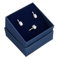 kiss me® Schmuck-Set, Fingerring & Ohrring, 925 Sterling Silber, Micro pave Zirkonia, 8mm, 6x14x4.5mm, Größe:6, verkauft von setzen