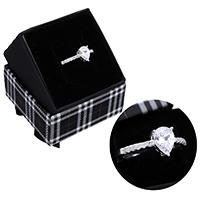 kiss me® Finger Ring, 925 Sterling Silber, mit Karton-box, Tropfen, Micro pave Zirkonia, 8.50mm, Größe:7, verkauft von PC