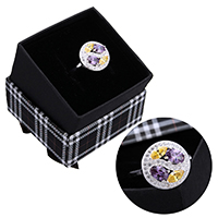 kiss me® Finger Ring, 925 Sterling Silber, mit Karton-box, Micro pave Zirkonia & facettierte, 14.50mm, Größe:9, verkauft von PC